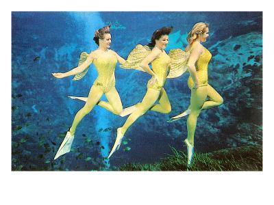 Three Green Mermaids, Retro