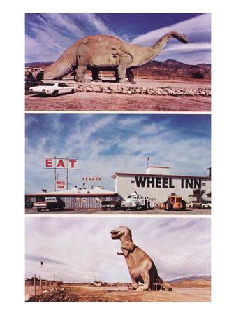 Highway Attractions, Dinosaurs, Retro