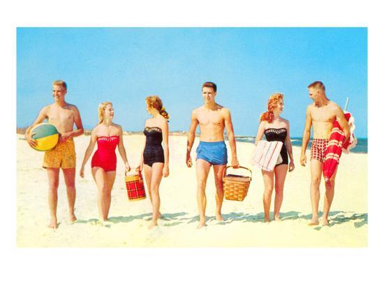 fa72d42682cb Beach Picnic, Retro Prints at AllPosters.com