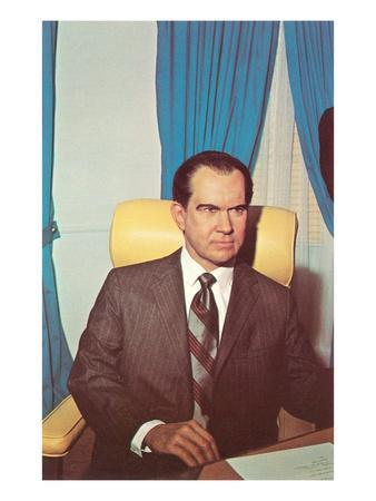 Wax Rendition of Richard Nixon