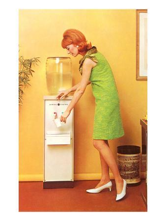 Mod Redhead at Water Cooler, Retro