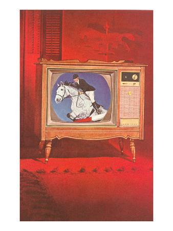 Horse Jumping on TV
