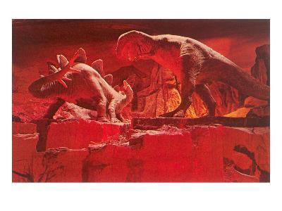 Fiery Dinosaur Diorama