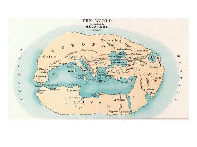 World Map: 500 B.C