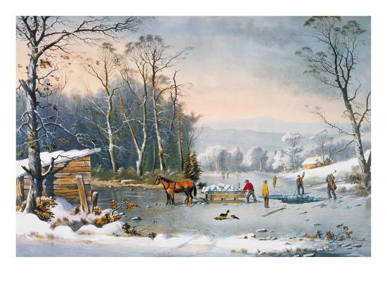 Currier Amp Ives Winter Scene Giclee Print By Currier Amp Ives