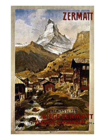 Swiss Travel Poster, 1898