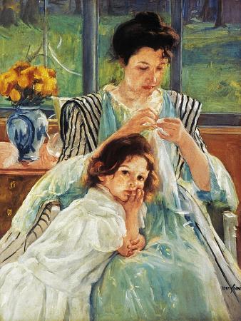 Cassatt: Mother Sewing