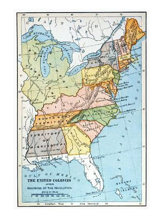 United States Map, C1791