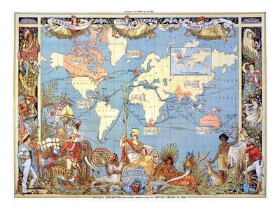 Map: British Empire, 1886
