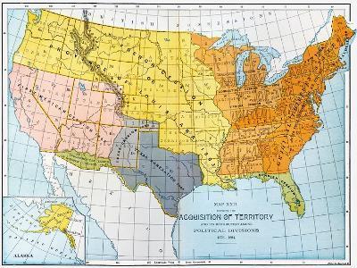 U.S. Map, 1776/1884