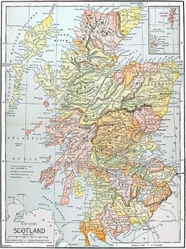 image regarding Printable Map of Scotland named Map: Scotland
