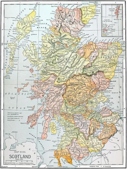 Map: Scotland Giclee Print at AllPosters.com