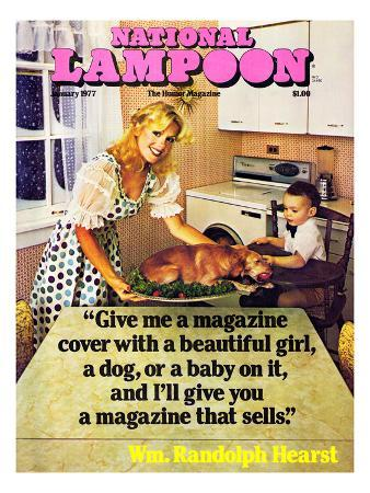 National Lampoon, January 1977 - Beautiful Girl, a Dog, and a Baby