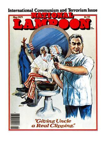 """National Lampoon, May 1979 - International Communism and Terrorism Issue, """"Giving Uncle a Real Clip"""