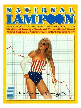 National Lampoon, November 1982 - Miss Economics Recovery '82