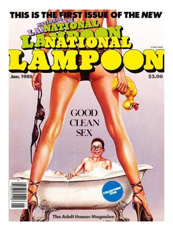 First Issue of the New National Lampoon, January 1985 - Good Clean Sex