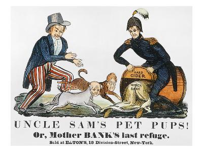 Uncle Sam: Cartoon, 1840