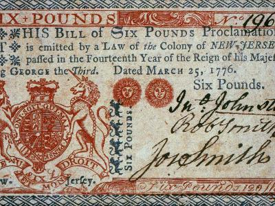 Colonial Currency, 1776
