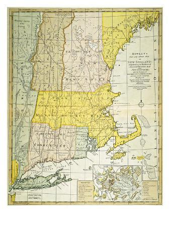 New England Map, C1775