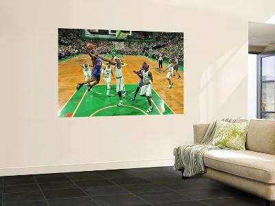 New York Knicks v Boston Celtics - Game Two, Boston, MA - April 19: Toney Douglas and Jermaine O'Ne
