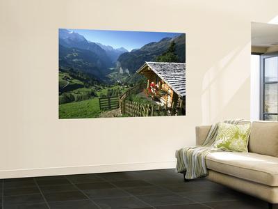 Alpine Cabin, Wengen and Lauterbrunnen Valley, Berner Oberland, Switzerland