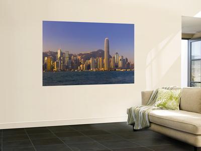 Skyline of Hong Kong Island from Kowloon, Hong Kong, China