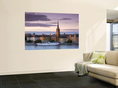 Sunset, Riddarholmen and Gamla Stan, Stockholm, Sweden