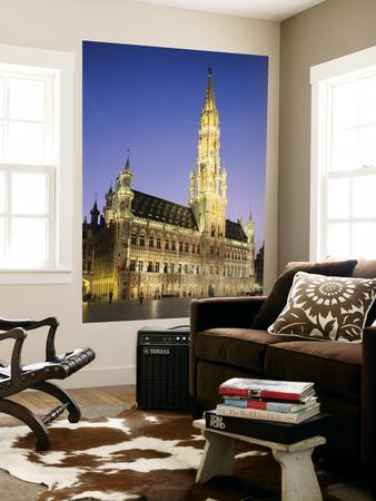 Grand Place, Town Hall, Night View, Brussels, Belgium