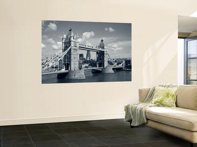 Tower Bridge and Thames River, London, England