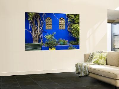 Blue Wall and Window Detail at Jardin Majorelle