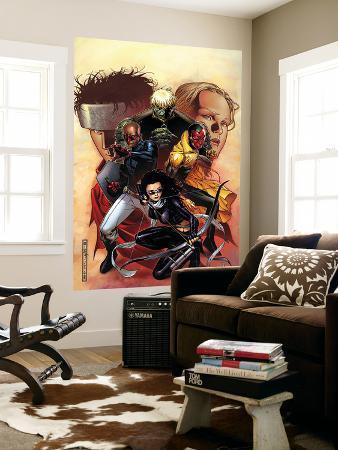 Young Avengers No.9 Cover: Bishop, Kate, Hulkling, Vision and Patriot