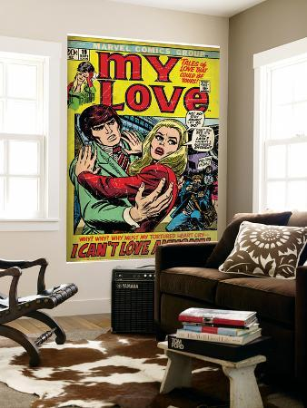 Marvel Comics Retro: My Love Comic Book Cover No.19, Pushing Away, I Can't Love Anyone! (aged)
