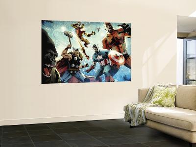 Avengers vs. Atlas No.1 Group: Thor, Iron Man, Captain America and Giant Man
