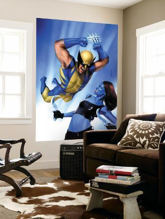 Mystique No.23 Cover: Wolverine and Mystique