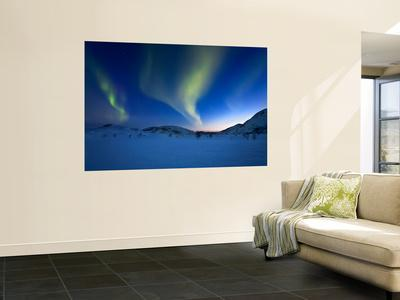 Aurora Borealis over Skittendalen Valley in Troms County, Norway