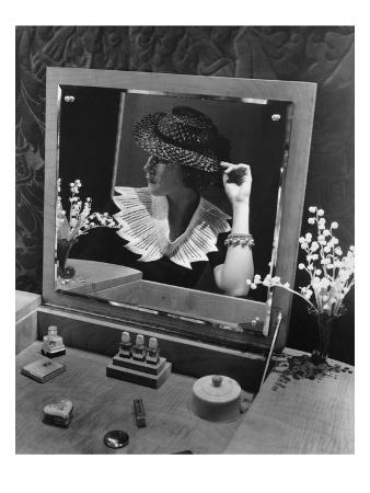 Vogue - January 1935 - Georgette Whelan at Vanity Table
