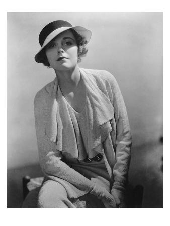 Vogue - January 1935 - Model in Grosgrain Hat