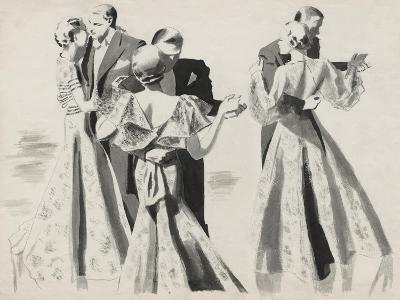 Vogue - January 1935 - Three Dancing Couples
