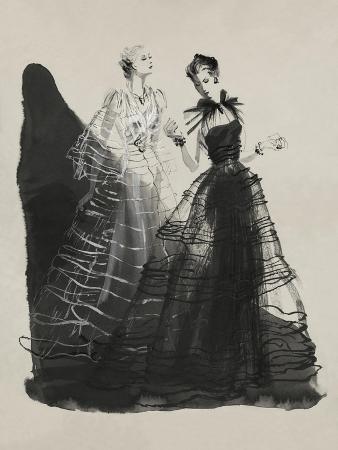 Vogue - April 1936 - Black and White Dresses by Vionnet