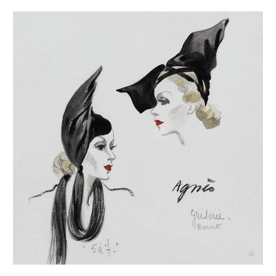Vogue - November 1936 - Dramatic Black Hat by Agnes