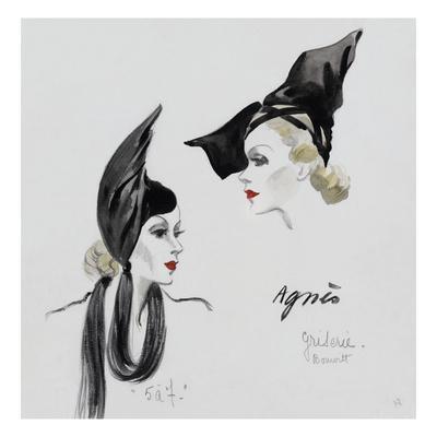Vogue - November 1936 - Dramatic Black Hat by Agnes