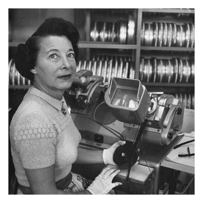 Vogue - February 1952 - Barbara McLean Editing a Film