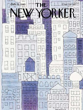 The New Yorker Cover - January 28, 1980