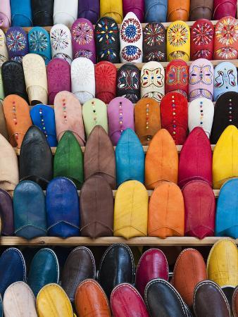 Leather Slippers, Medina Fes, Middle Atlas, Morocco