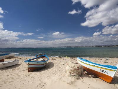 Fishing Boats on Beach, Hammamet, Cap Bon, Tunisia