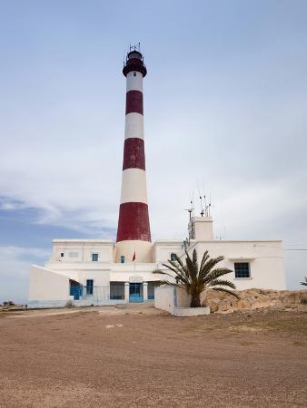 Taguermes Lighthouse, Sidi Mahres Beach, Houmt Souq, Jerba Island, Tunisia