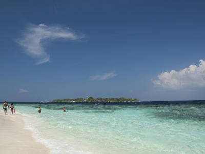 Bandos from the White Sand Beach, Island of Kuda Bandos, North Male Atoll, Maldives
