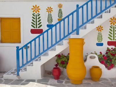 Flowers and Colorful Pots, Chora, Mykonos, Greece