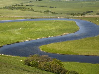 River Cuckmere, Near Seaford, East Sussex, England
