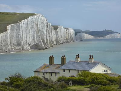 Seven Sisters Chalk Cliffs, Cuckmere Haven, Near Seaford, East Sussex, England